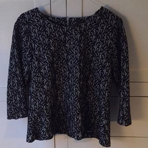JCrew embroidered top xl